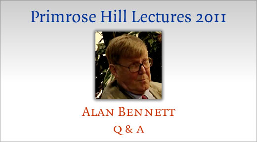 Alan Bennett on public libraries. Q and A.