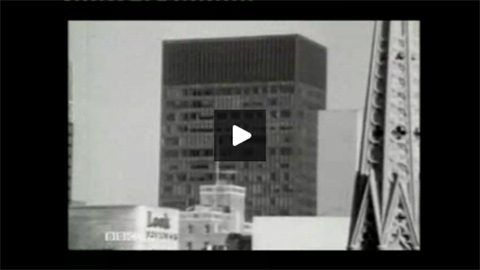 Susan Sontag discussing the Seagram building with Philip Johnson for the BBC (1965).